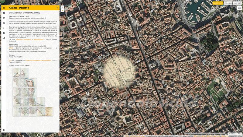 Atlante delle cartografie tecniche storiche di Palermo